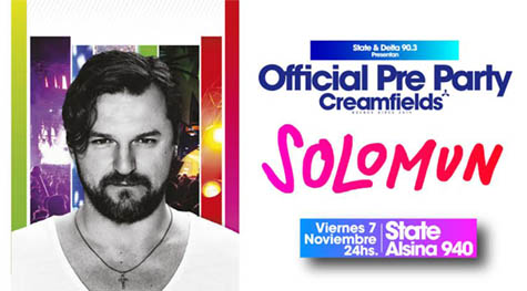 OFFICIAL PRE PARTY CREAMFIELDS BUENOS AIRES SOLOMUN flyer small